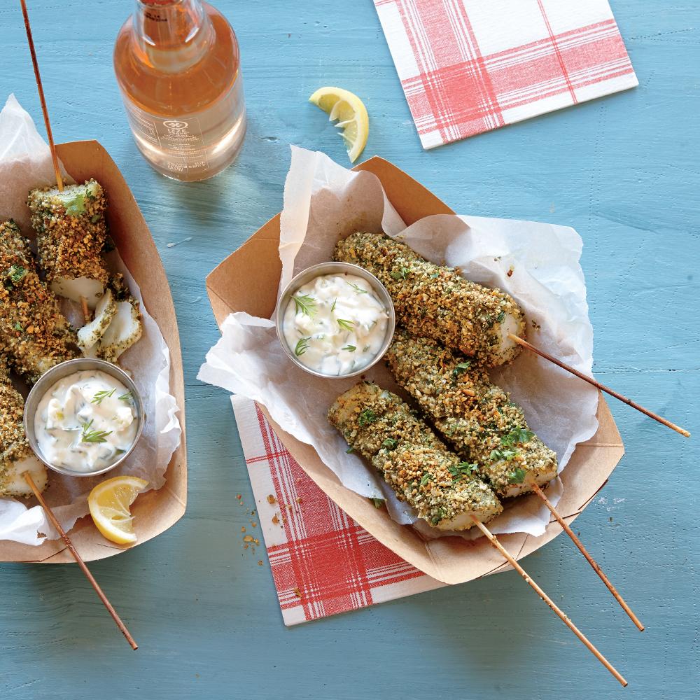 Fish on a stick recipe myrecipes for Fish on a stick