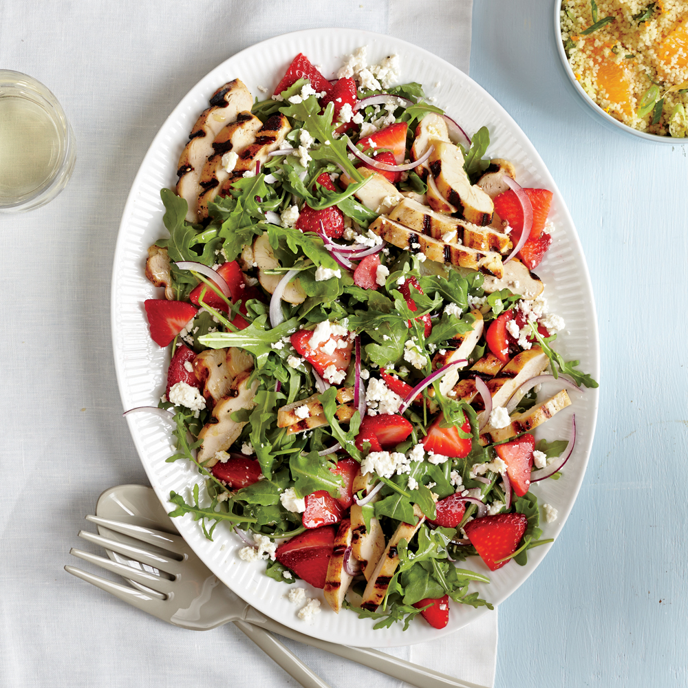 Grilled Chicken Salad with Strawberries and Feta Recipe