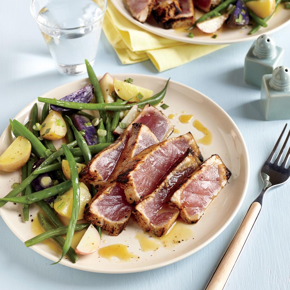 Maple and Mustard Seared Tuna Steaks