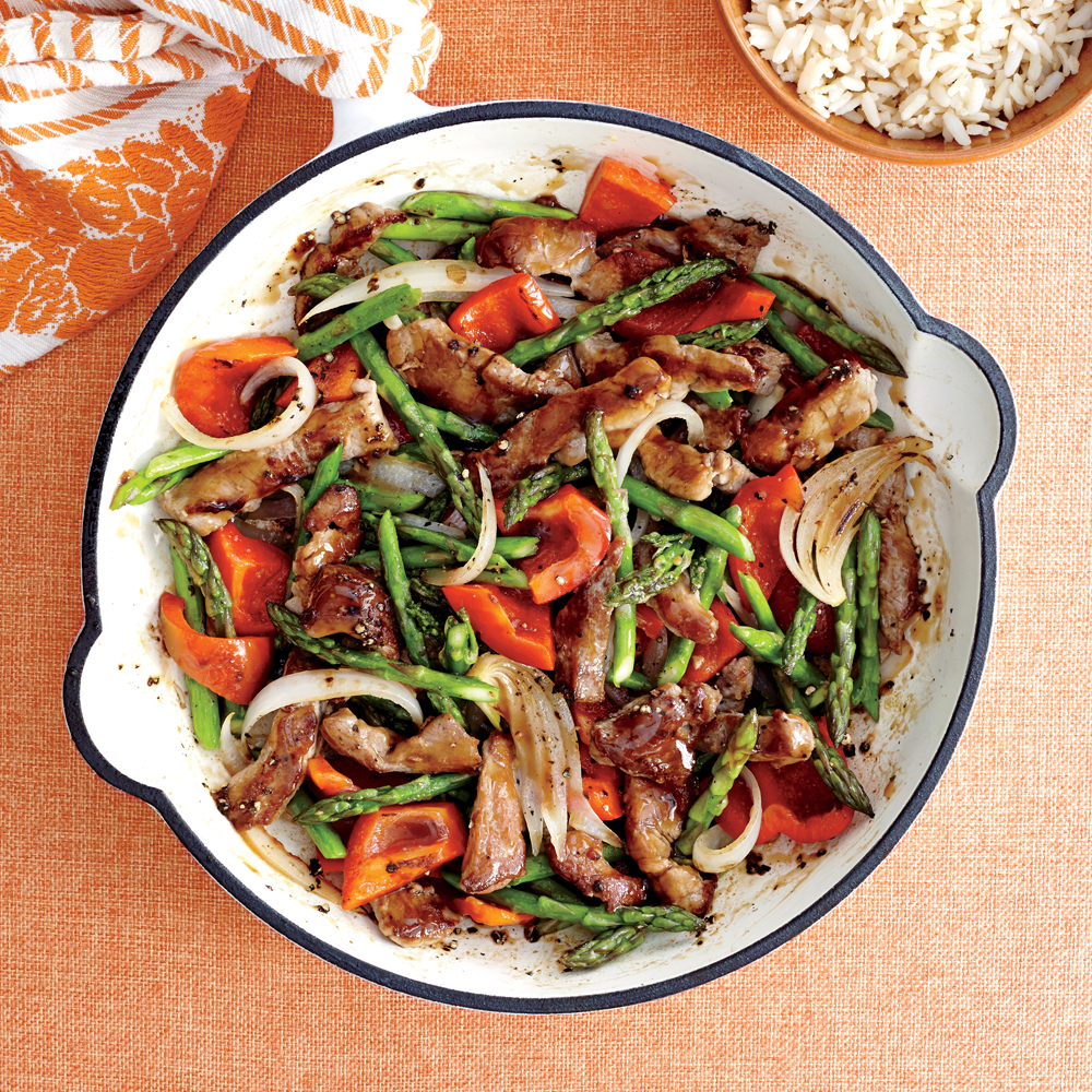 Pork And Asparagus Stir-Fry Recipe