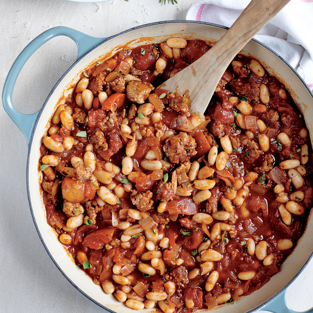 Sausage, Cannellini, and Tomato Ragout