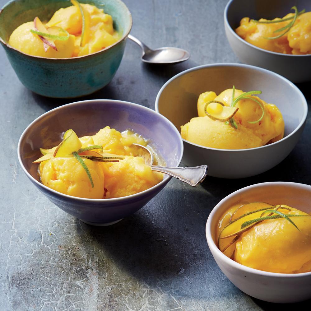 Soft-Serve Mango-Banana Sorbet
