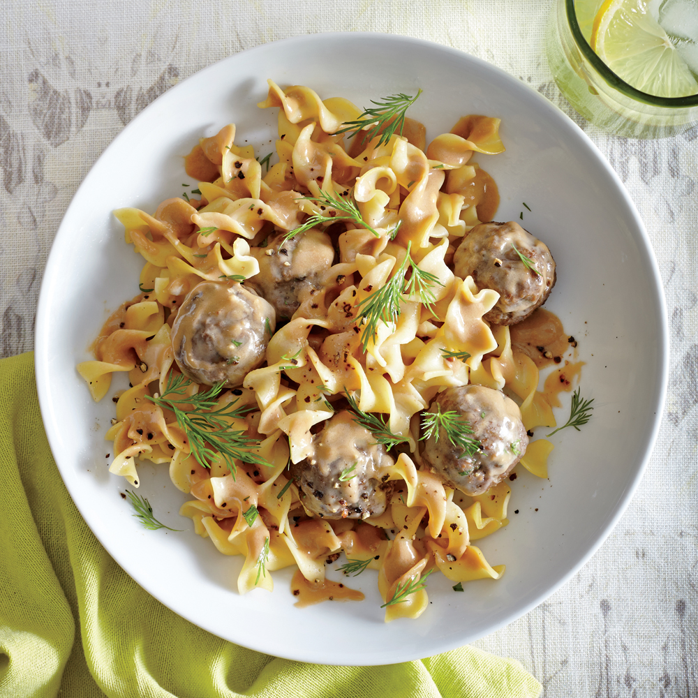how to make swedish meatballs with noodles