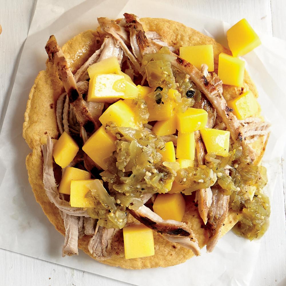 Tangy Pork and Mango Tostada