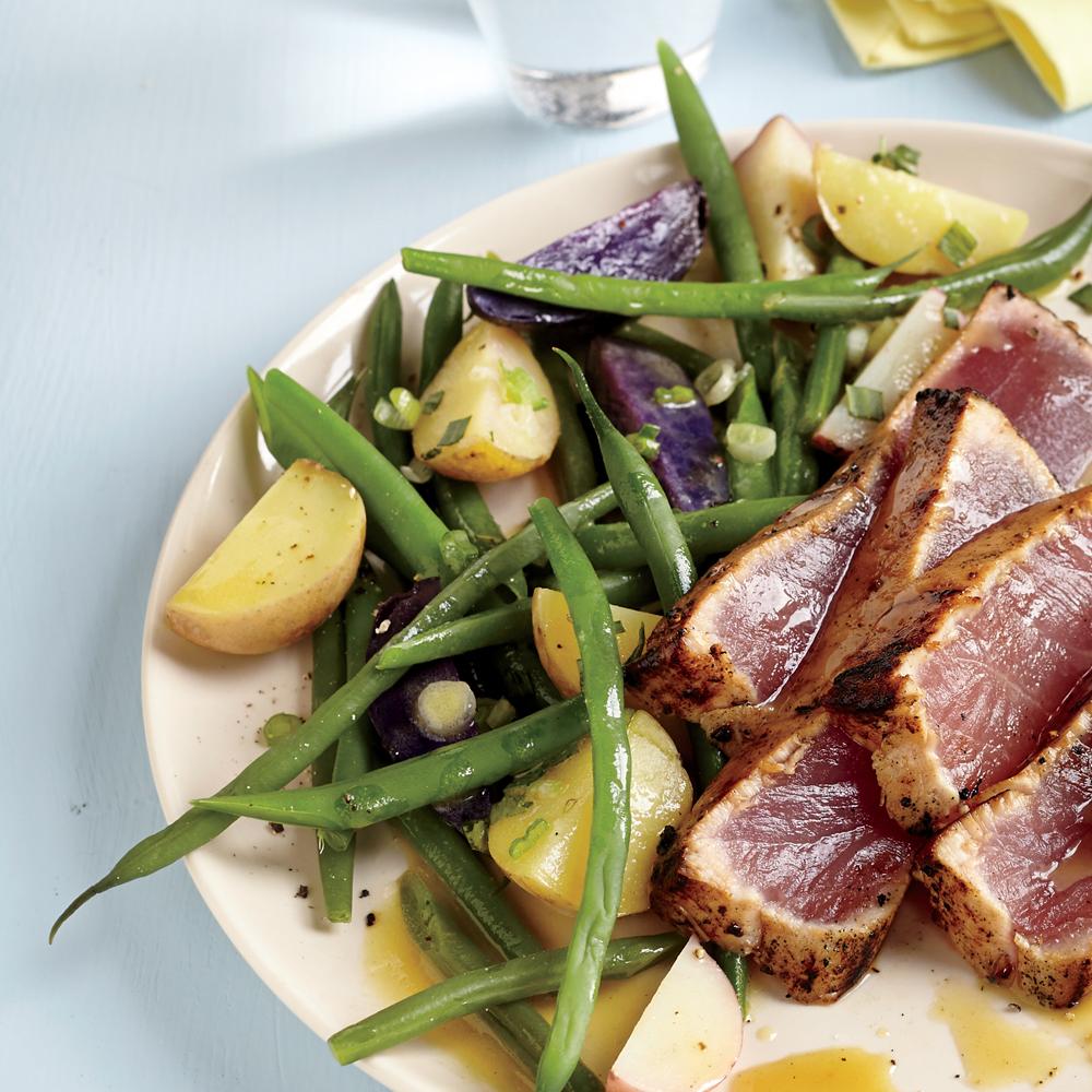 Warm Potato and Green Bean Salad Recipe | MyRecipes