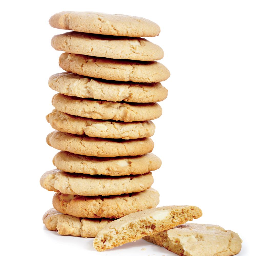 White Chocolate-Tahini Cookies