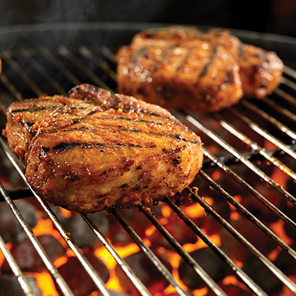 """Sweet Fire"" Porterhouse Pork Chops"