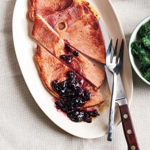 Ham and Spiced Cherry Sauce