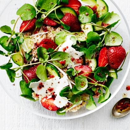 Cook With Confidence: Strawberry, Quinoa, and Ricotta Salata Salad