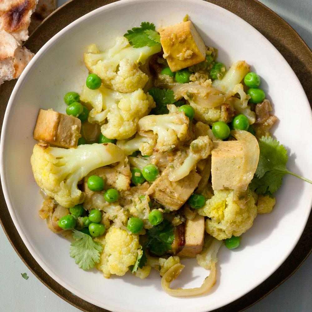 Cauliflower Masala with Tofu