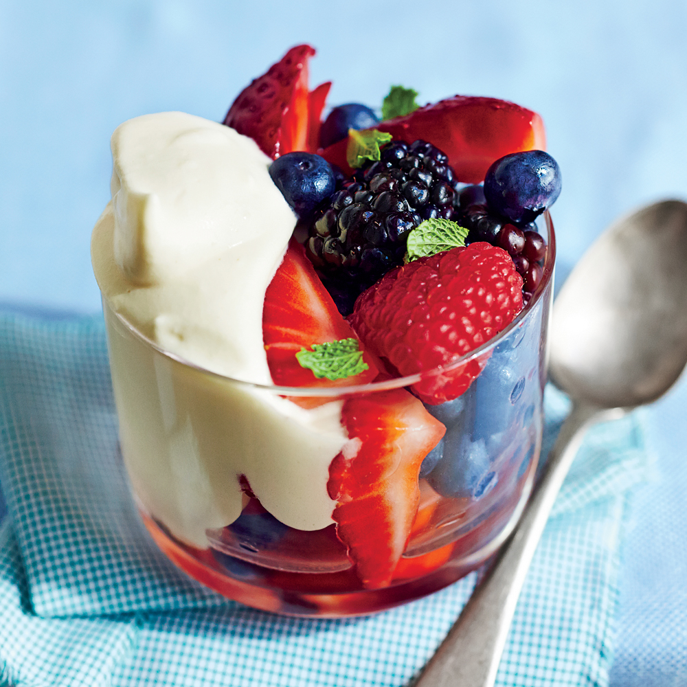 sl-Honey Custard with Berries Image