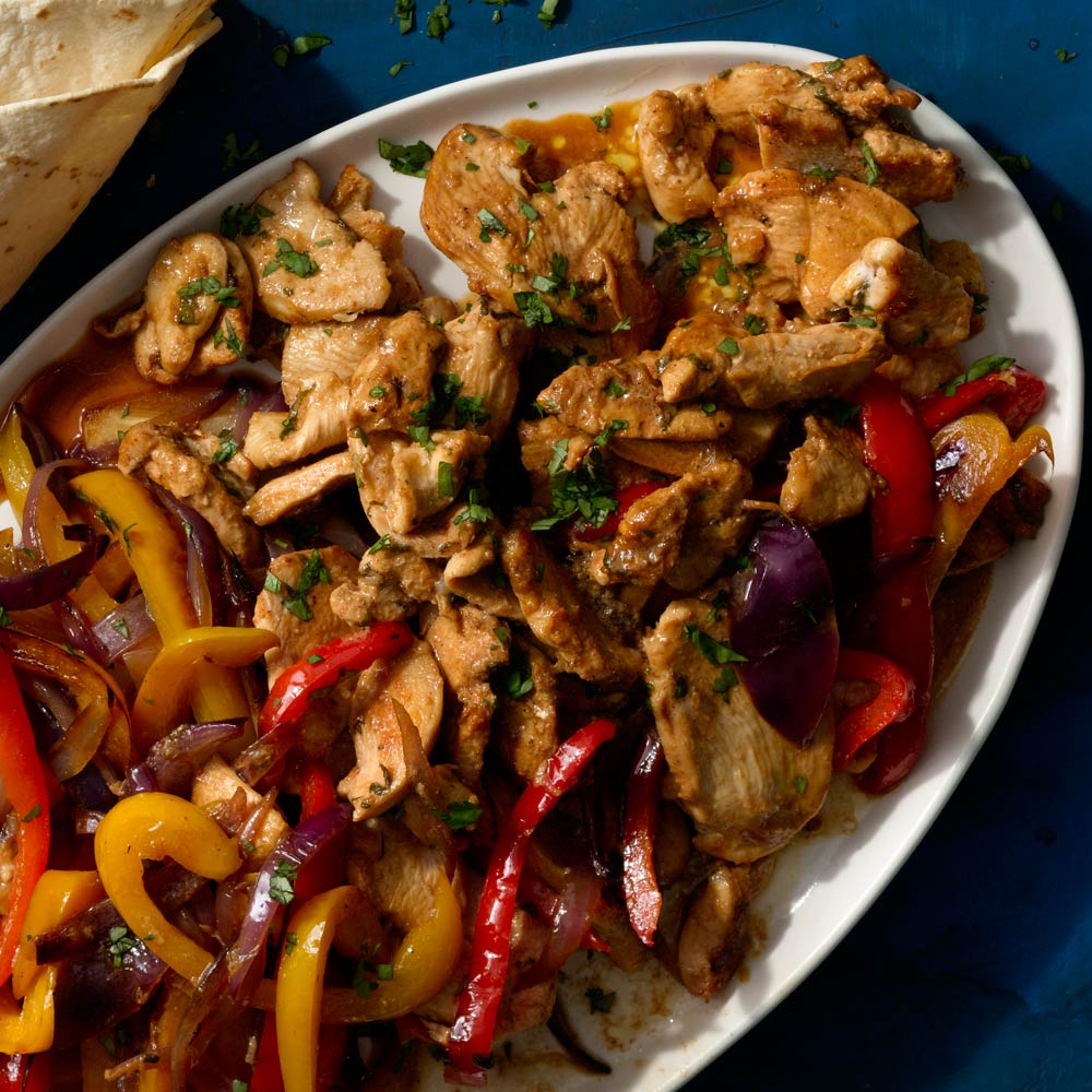 Sweet Pepper and Chicken Fajita Stir-Fry
