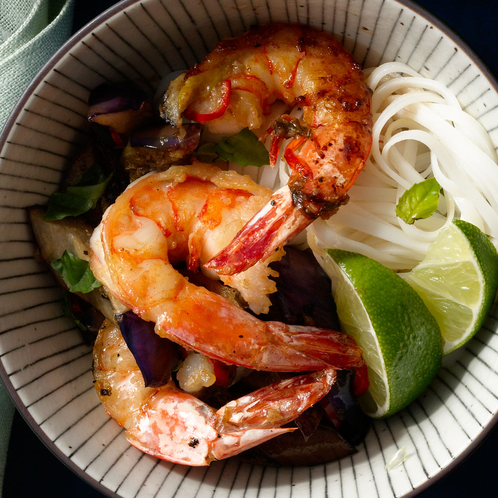 Thai Shrimp and Eggplant Stir-Fry
