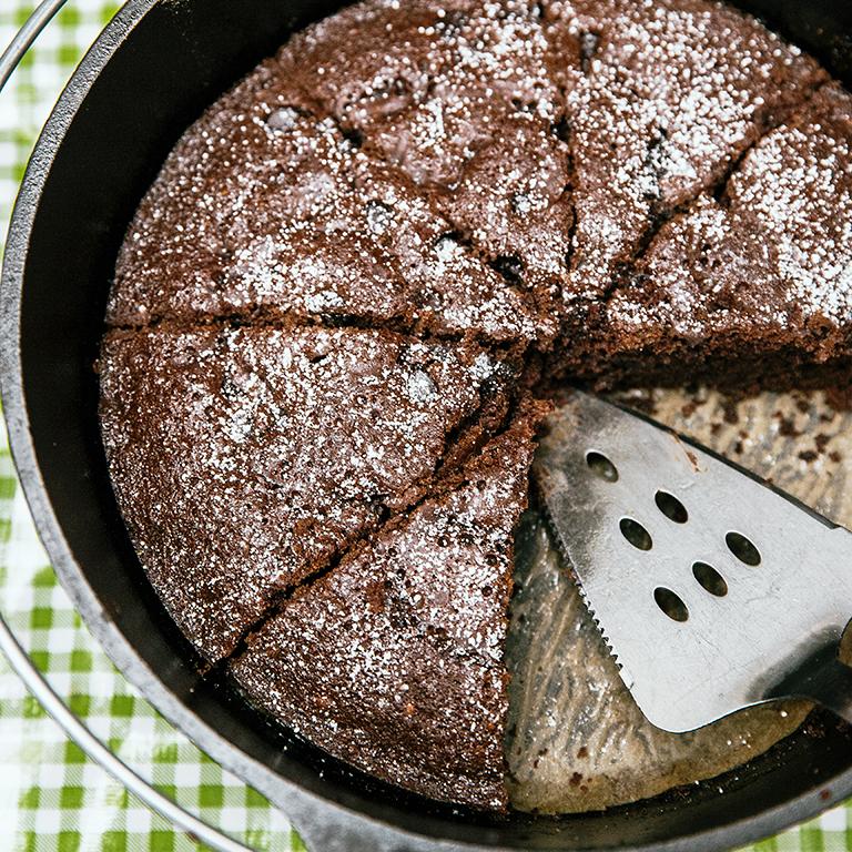 Dutch Chocolate Cake Images : Dutch Oven Double Chocolate Cake Recipe MyRecipes.com