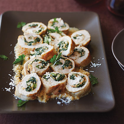 Fennel and Kale-Stuffed Pork Braciole