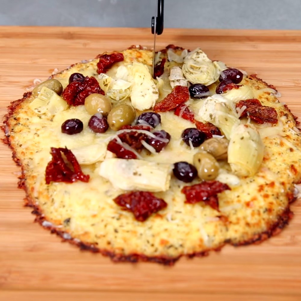<p>Cauliflower Pizza Crust</p>