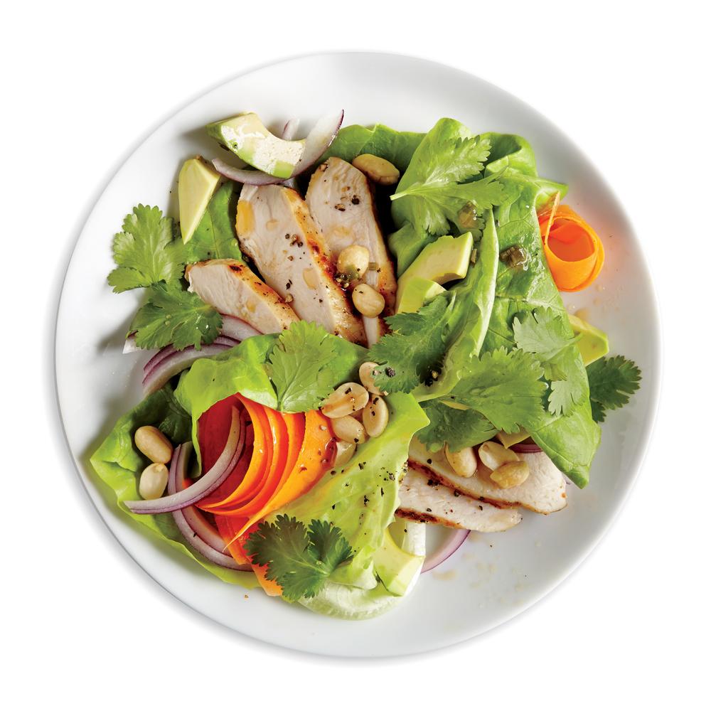 Chicken, Avocado, and Peanut Salad