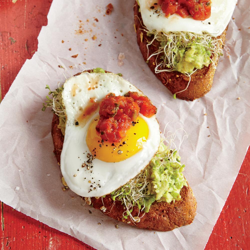 Fried Egg And Avocado Toasts Recipe