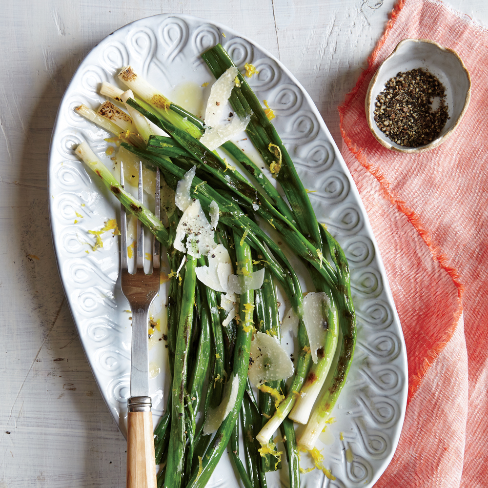Grilled Green Onions with Lemon and Parmesan Recipe ...