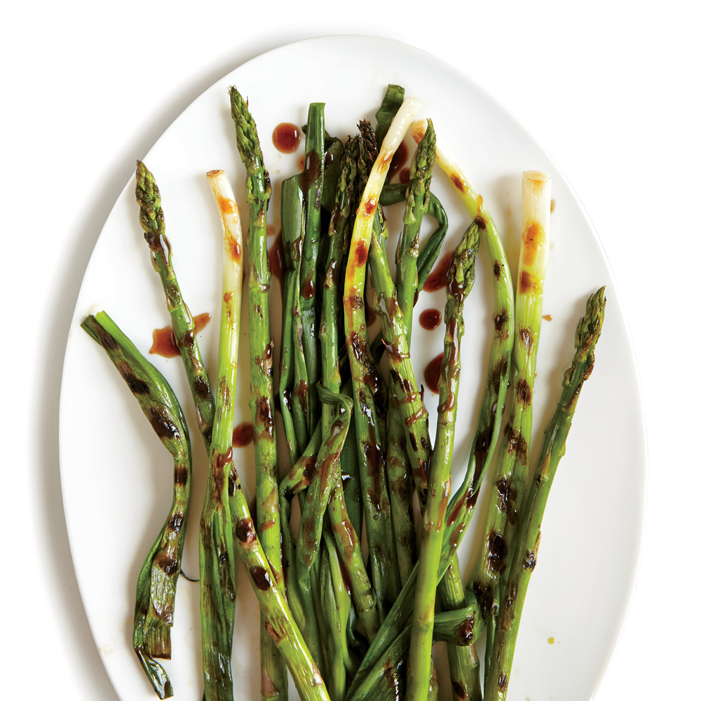 Grilled green onions with spicy asparagus hoisin recipe myrecipes ccuart Image collections