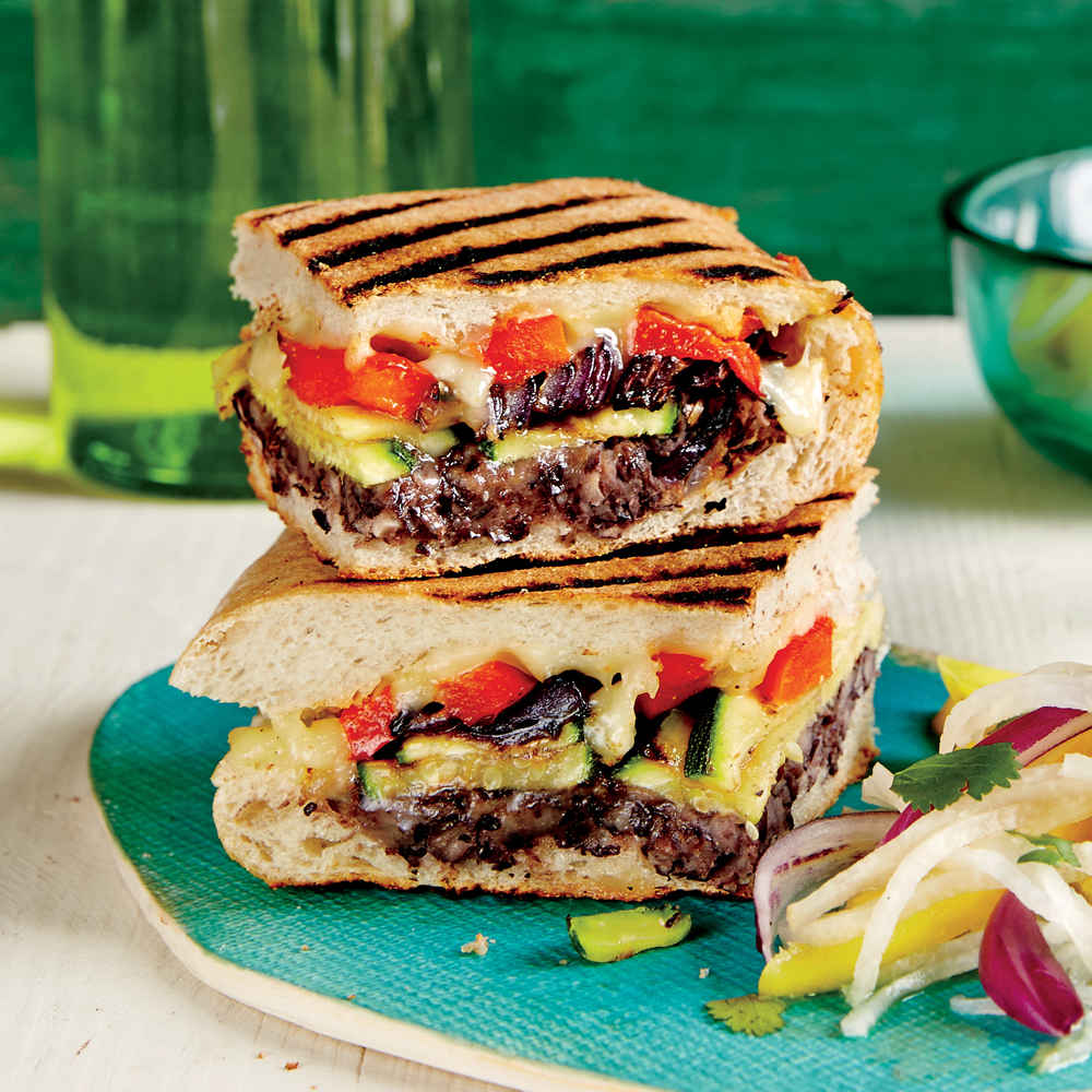 Mexican-Style Grilled Vegetable Sandwich Recipe | MyRecipes