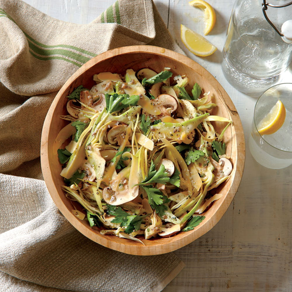 Porcini, Artichoke, and Parsley Salad