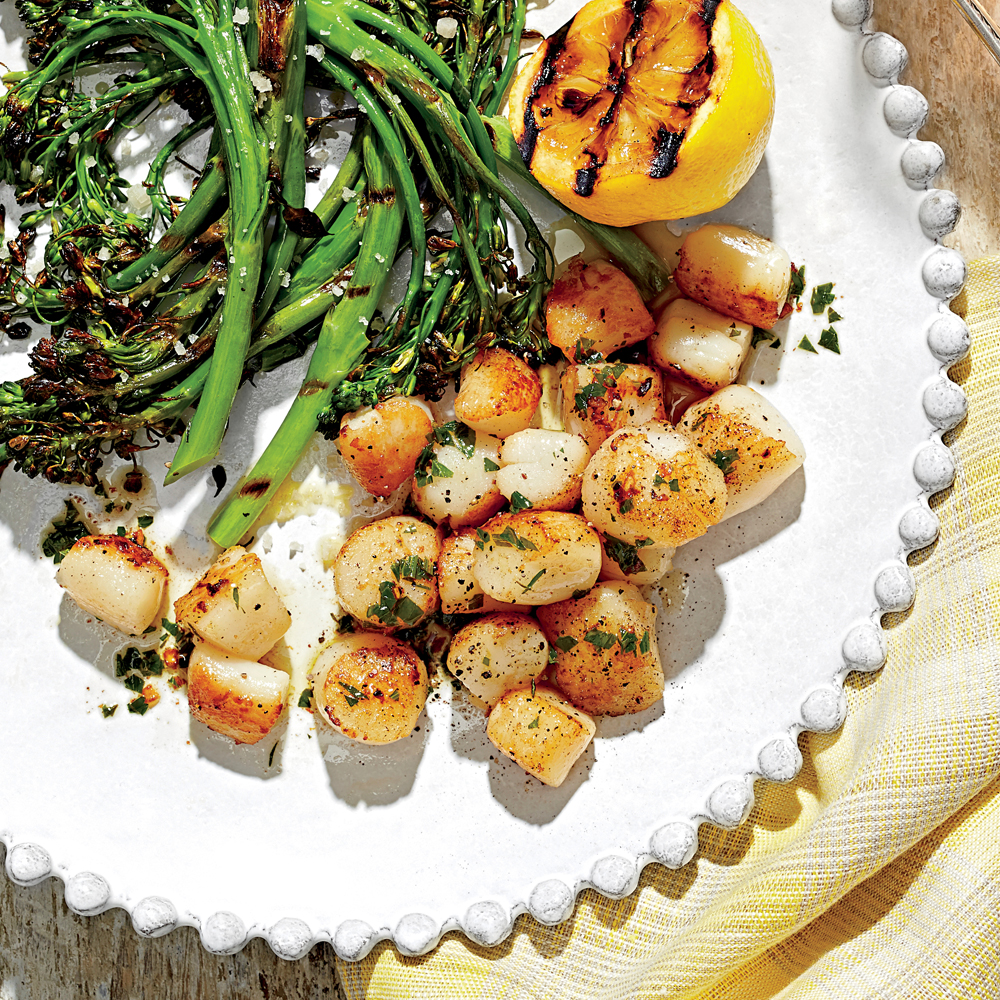Pan Fried Scallops Recipe Myrecipes