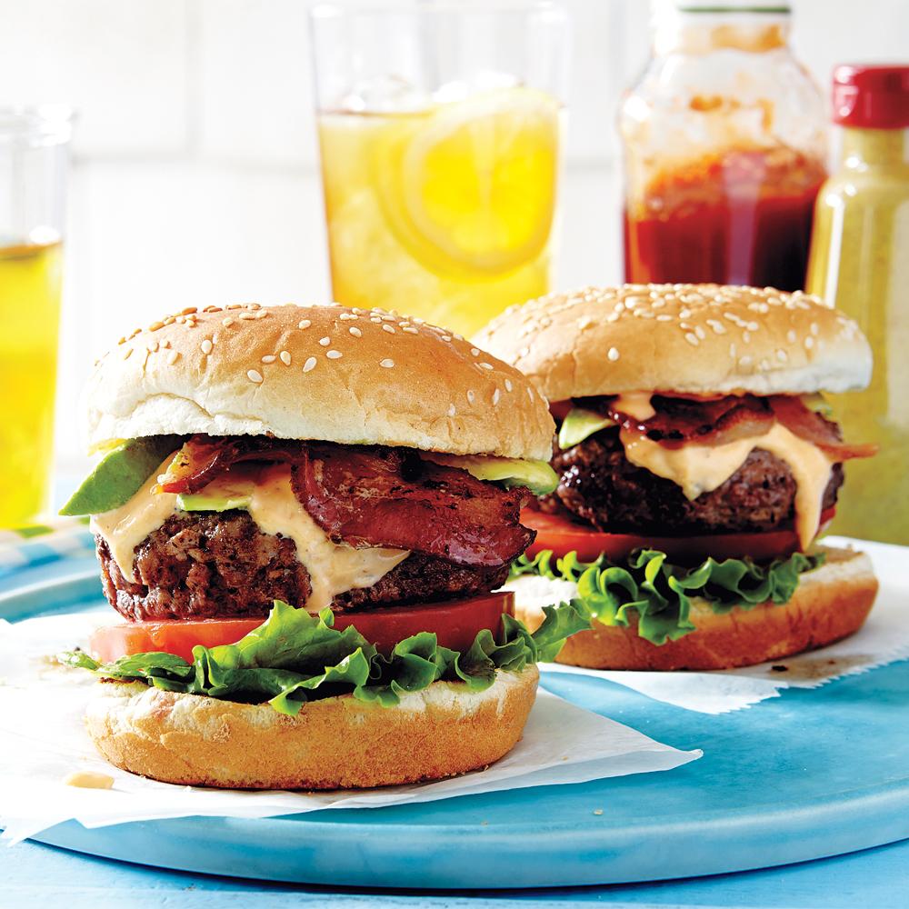 <p>BLTA Burger</p>