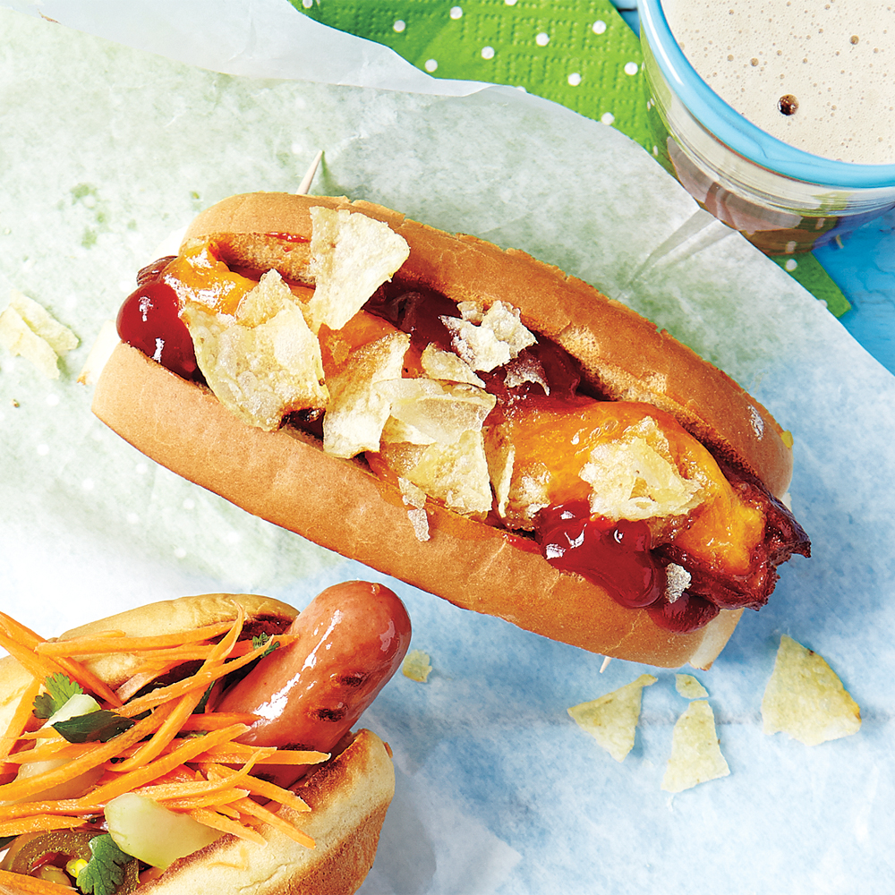 Cheese-Stuffed Barbecue Dogs