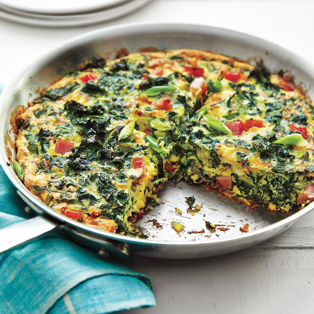 Green Eggs and Ham Frittata Recipe | MyRecipes