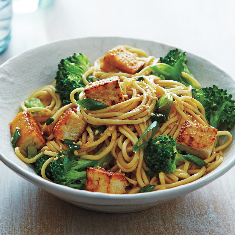 Stir-Fried Tofu and Broccoli Lo Mein