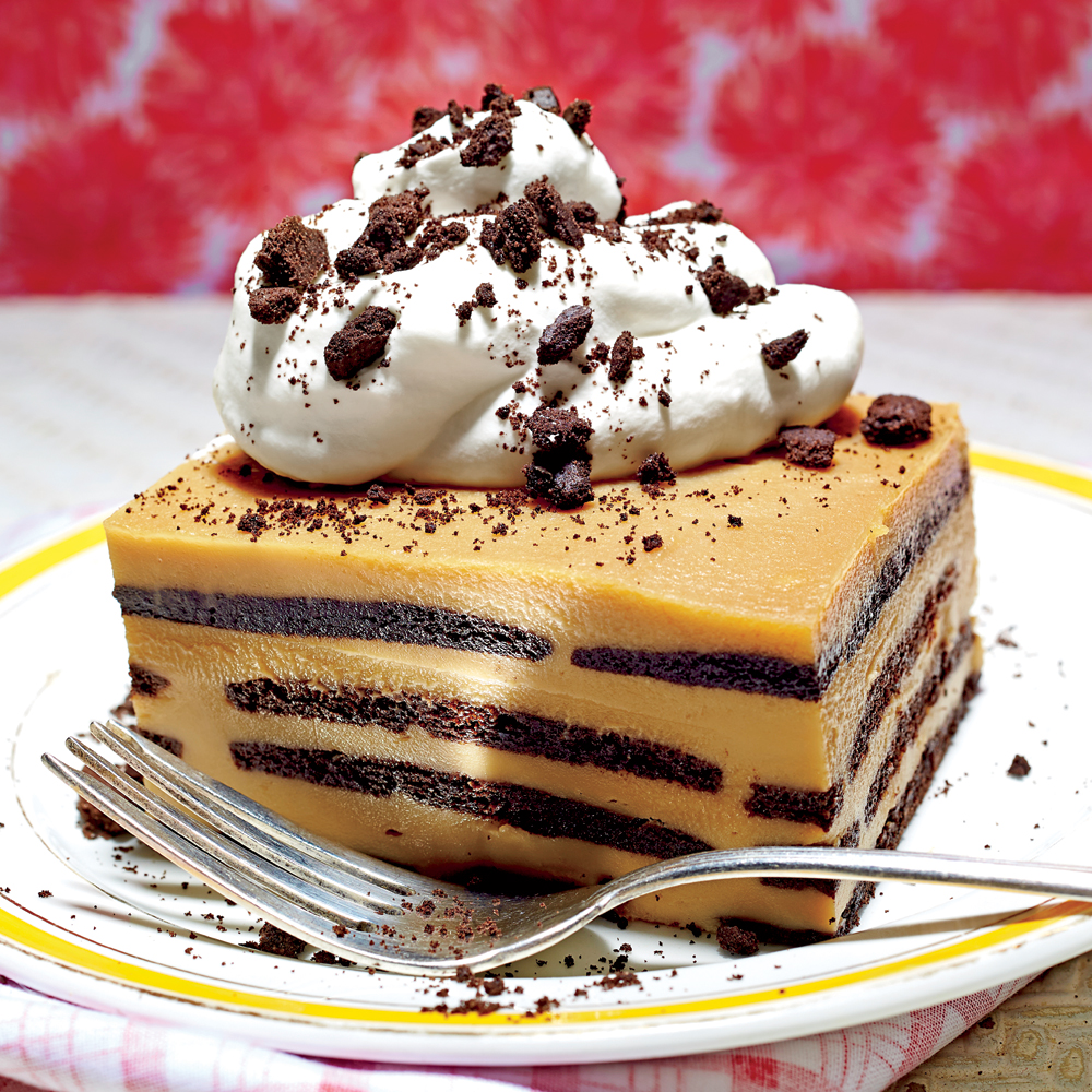 <p>Chocolate-Bourbon-Butterscotch Icebox Cake</p>