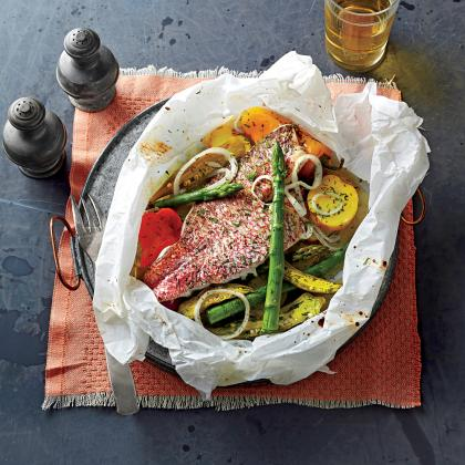 Cook With Confidence: Fish Baked in Parchment with Spring Vegetables