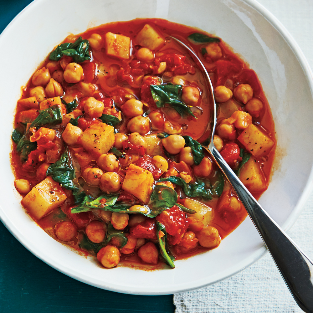 Slow-Cooker Spanish-Style Chickpeas Recipe