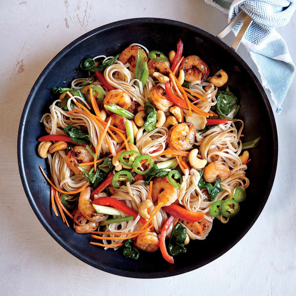 Chili-Garlic Shrimp and Noodle Stir-Fry