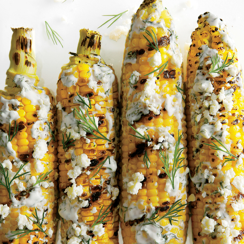 Grilled And Dilled Corn On The Cob Recipe Myrecipes