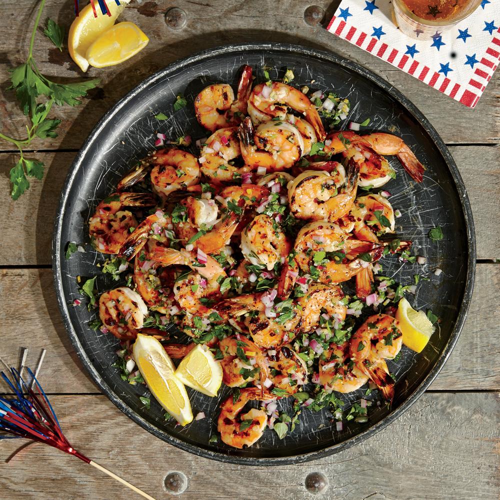 Summer Herbed Grilled Shrimp
