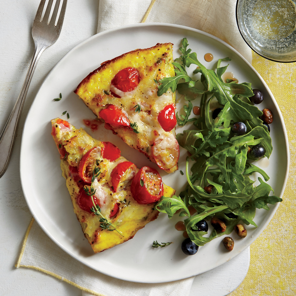 Tomato-Asiago Frittata Recipe