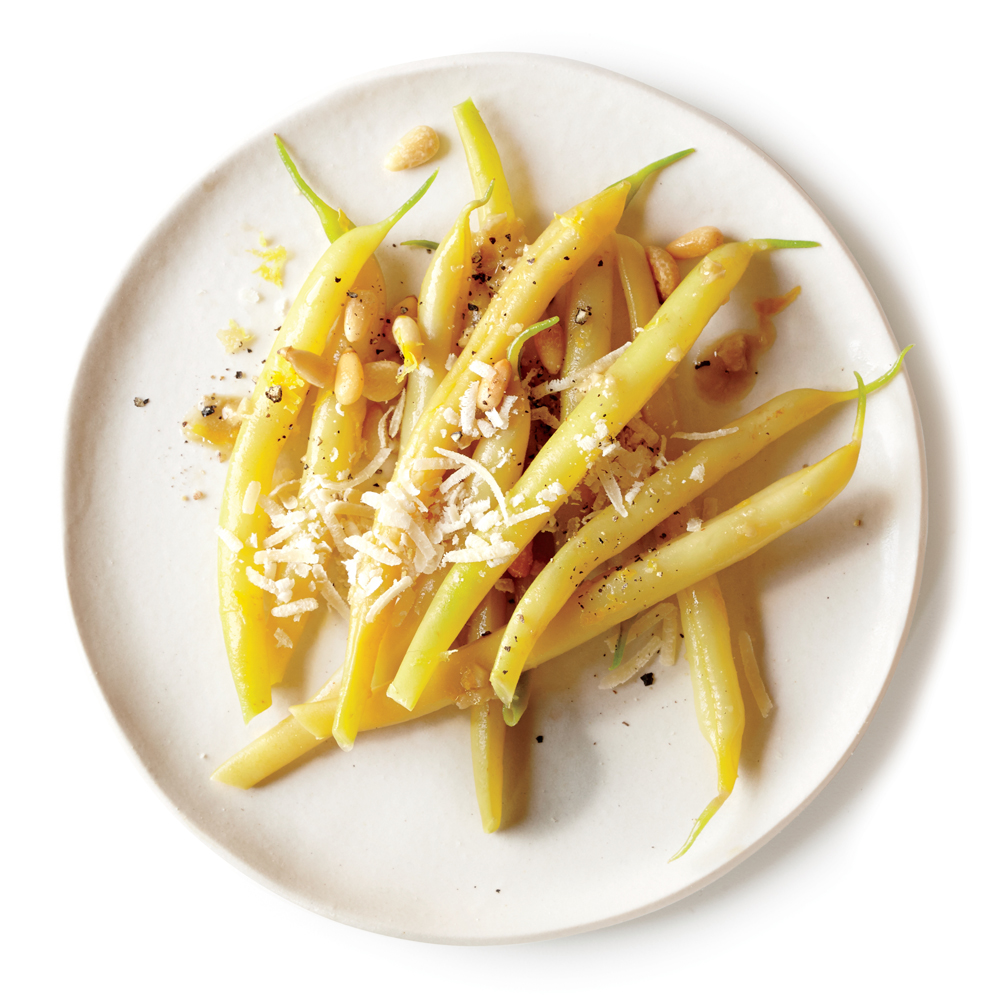 Wax Beans with Anchovy, Pine Nuts, and Parmesan