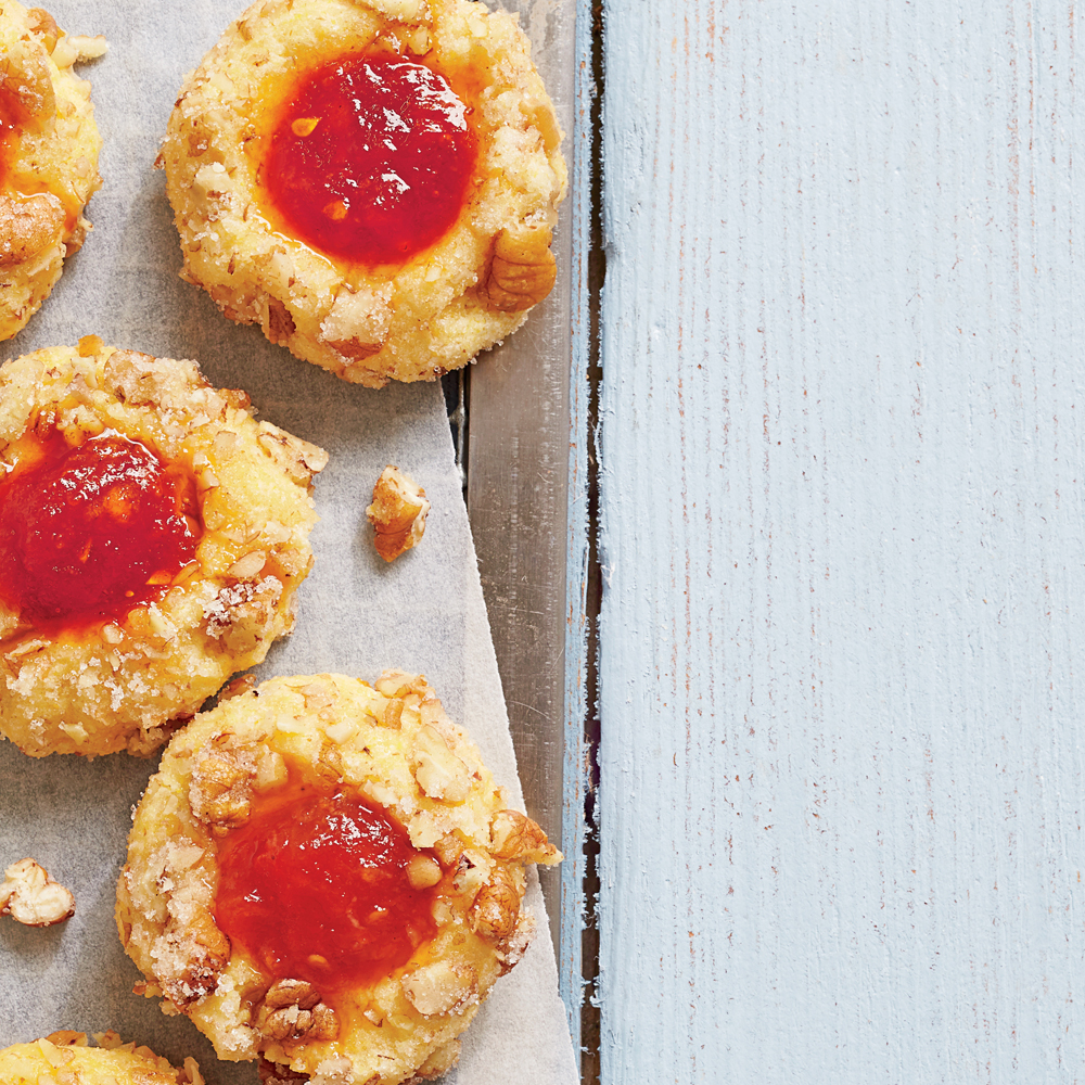 Cornmeal Thumbprint Cookies with Tomato Jam
