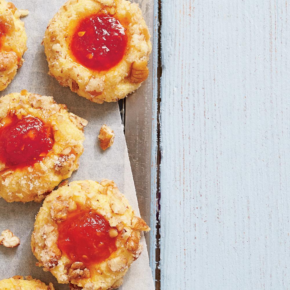 Cornmeal Thumbprint Cookies with Tomato Jam
