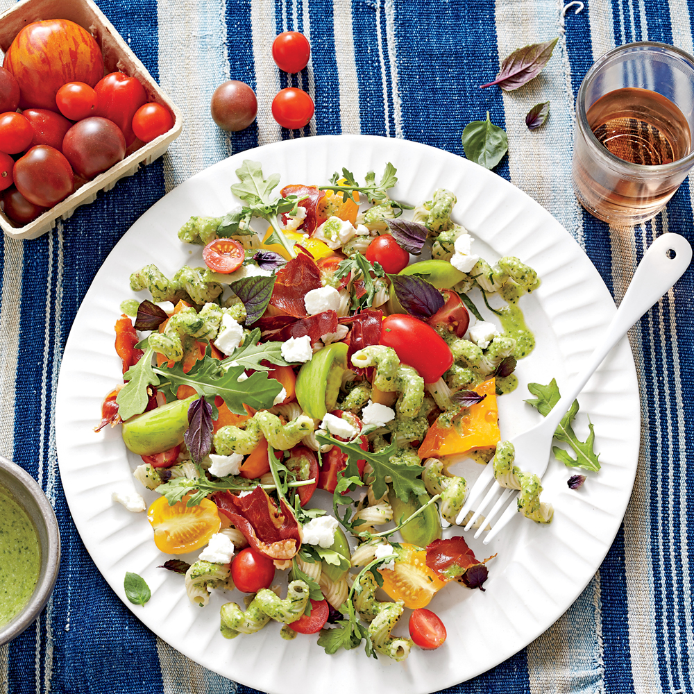 recipe heirloom tomato salad with goat cheese