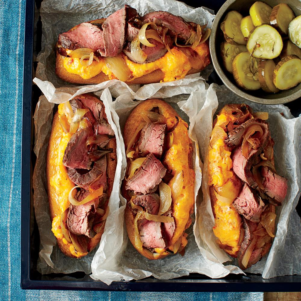 Southern Cheese Steak Sandwiches