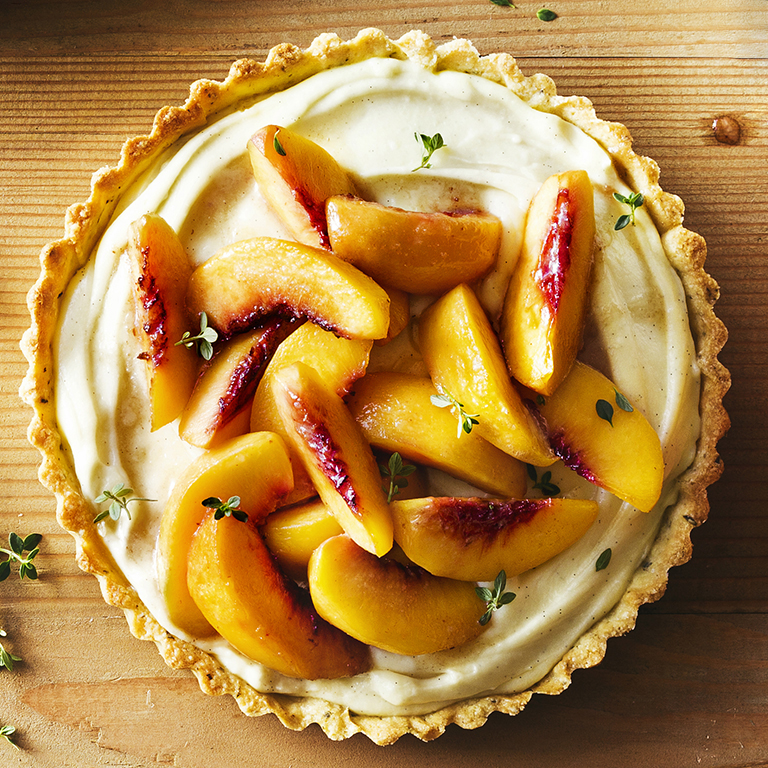 Brown Sugar Peach And Thyme Tart Recipe Myrecipes
