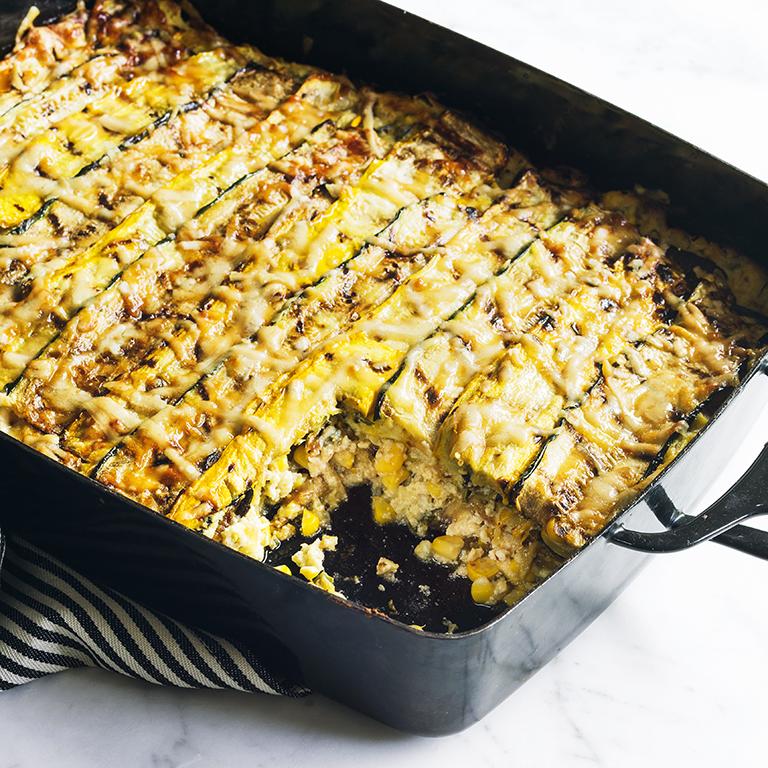 Zucchini and Corn Lasagna