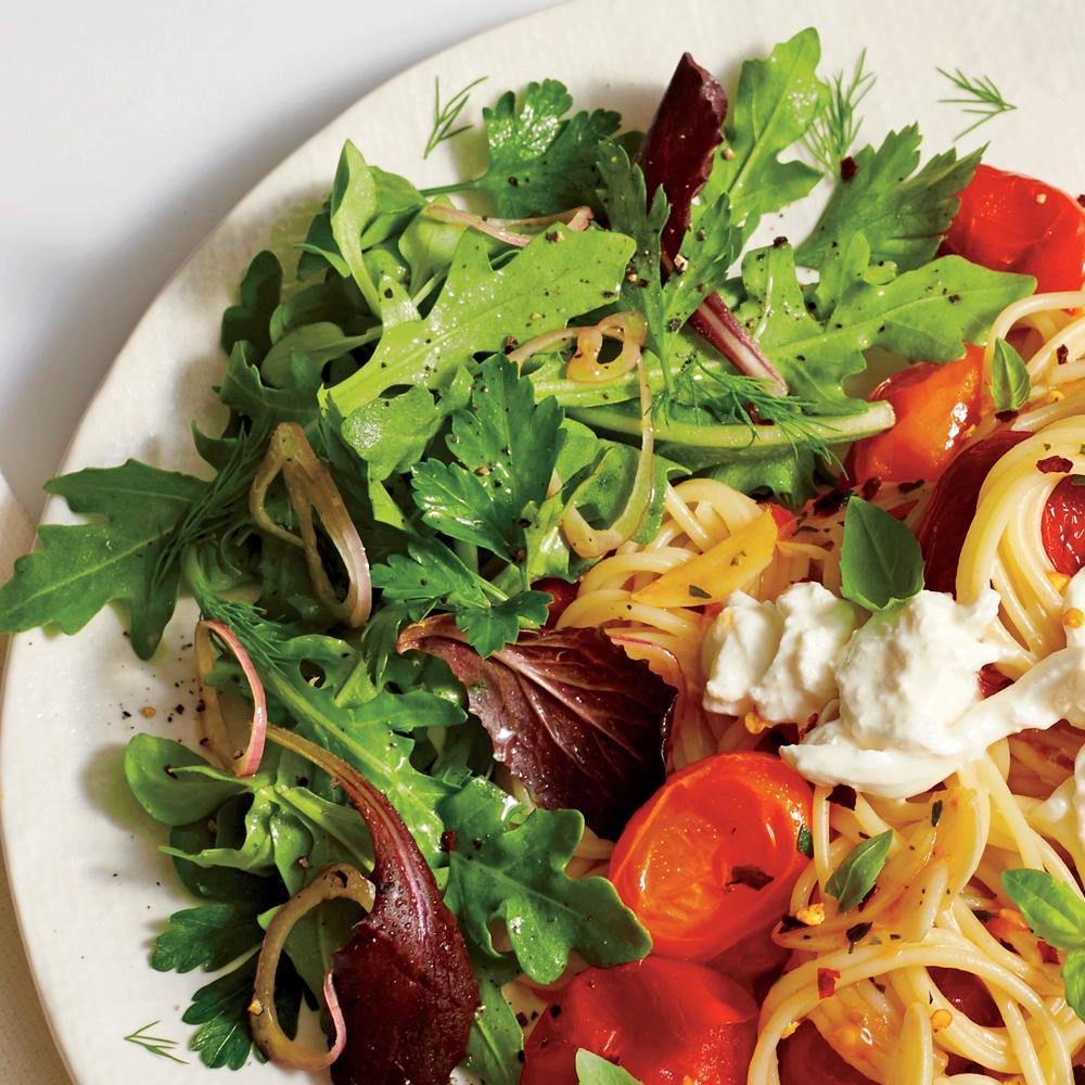 Herb Salad with Sherry Vinaigrette