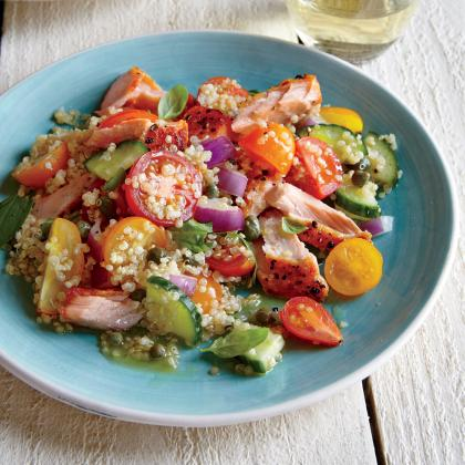 Quinoa Panzanella with Wild Salmon from Cooking Light
