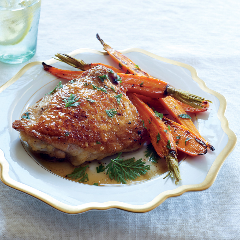 Meltingly Tender Chicken with Miso, Ginger, and CarrotsRecipe