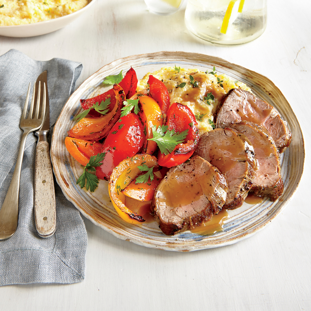 Pan-Roasted Pork Tenderloin And Peppers Recipe