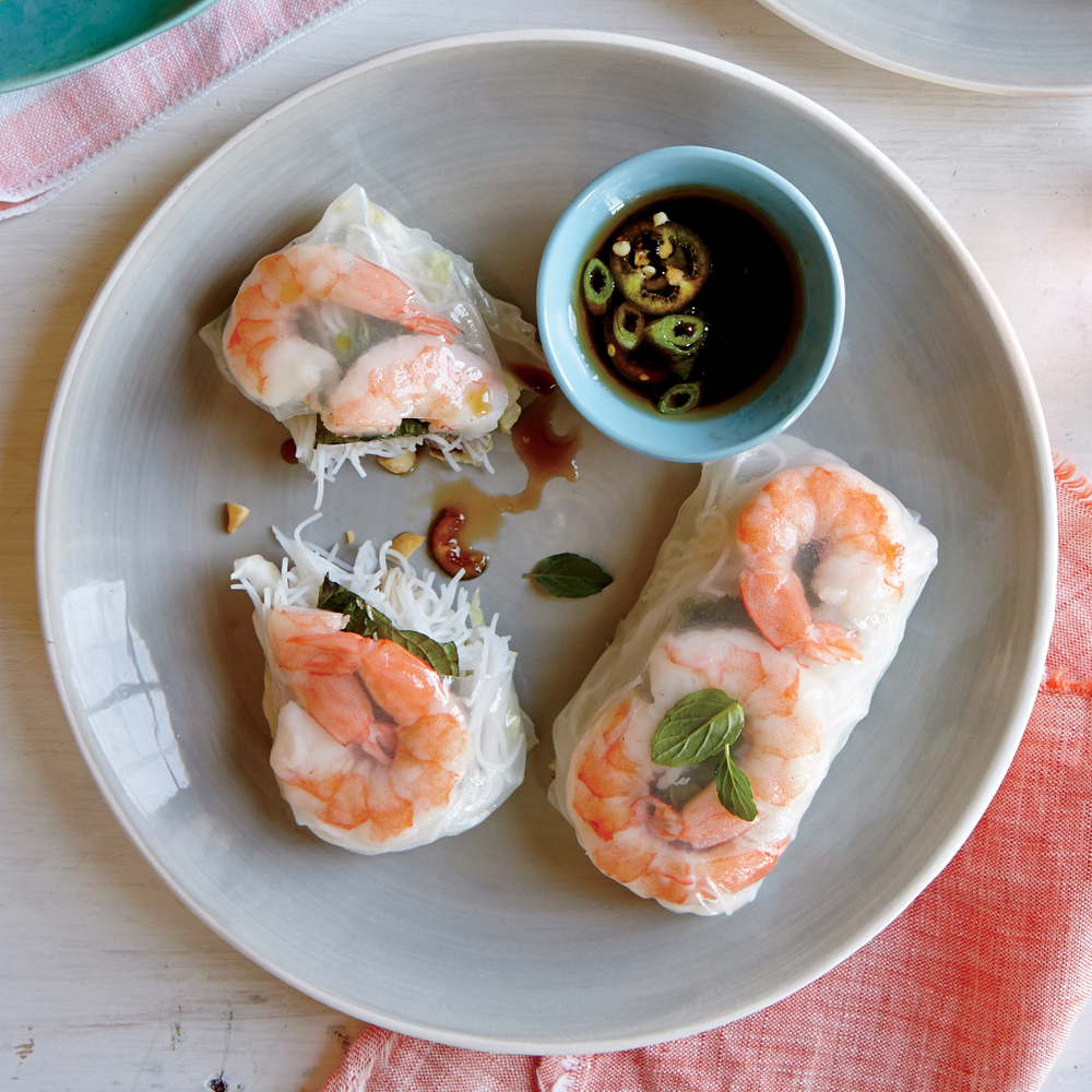 Shrimp Summer Rolls with Sesame-Soy Dipping Sauce Recipe ...